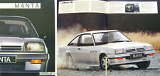 Opel Manta GT GSi 1985-86 Original French language Sales Brochure No. Fr-86-010