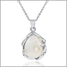 Sterling Silver Necklace with Handmade Biwa Pear Pendant  #90040