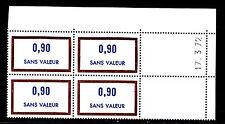 FRANCE TIMBRE FICTIF F199 ** MNH, coin daté 17.3.72, TB