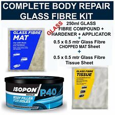 CAR BODY REPAIR FIBRE GLASS KIT FILLER, FIBRE GLASS MAT & SURFACE TISSUE SHEET