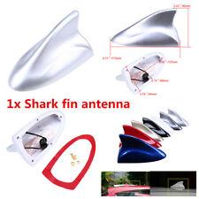 High-Quality 1X Silver ABS Car Shark Fin Antenna Radio Signal Aerial Car-Styling