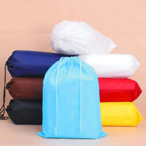 Non-Woven Fabric Travel Shoe Bag Drawstring Organizer Clothes Storage Bag Pouch