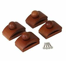 Classy Clamps Wooden Quilt Hangers 4 Small Clips (Dark) and Screws for Wall