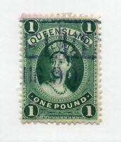 Queensland - SG# 161a Used / re-entry  / thick paper/ wmk 10 - Lot 0720190