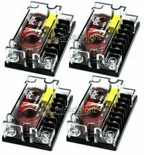 4 Audiopipe Passive 2 Way Car Audio Crossover / Two-Way Speaker and Tweeter 300W