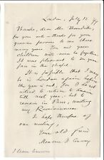 Moncure D Conway, leader South Place Ethical Society - abolitionist -1899 letter