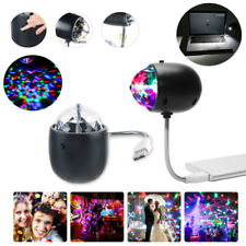 Mini USB DJ Disco KTV Party RGB LED Laser Projector Stage Light White Night Lamp
