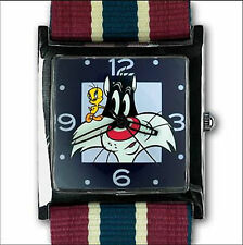 New TWEETY & SYLVESTER Looney Tunes collectors watch animation figure and