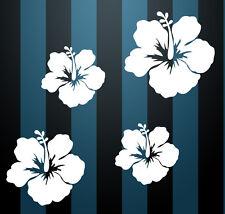 Auto Aufkleber Hibiskus Blumen Schmetterlinge HAWAII WANDTATTOO 4 q Wandsticker