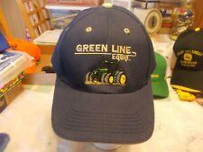 NEW OLD STOCK ADVERTISING JOHN DEERE GREEN LINE EQUIPMENT GRAND ISLAND,  NE HAT