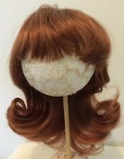 "12-13"" Auburn 100% Human Hair Doll Wig - Long with a Slight Wave & Full Bangs"
