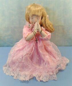 """ABC Distributing Porcelain Praying Doll in Pink 13"""""""