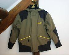 JACK WOLFSKIN 3 in 1 Family Winter Jacke 140 Oliv gelbe große Tatze