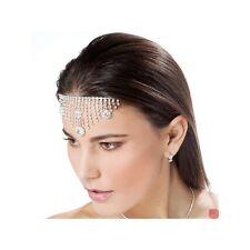 Diadema Odalisca sposa acconciatura cristallo bianco strass brillaniti cerimoni