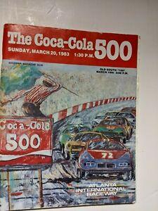 1983 Nascar Atlanta Coca Cola 500 Winston Cup Program Cale Yarborough