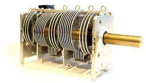 ALPS 5 Gang Air Variable Capacitor 10-200pf FM AM SW Crystal Radio Antenna Tuner