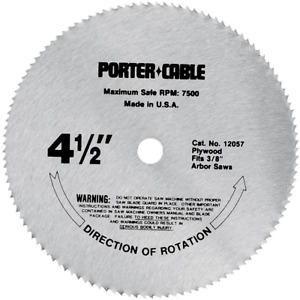PORTER-CABLE 4-1/2-Inch Circular Saw Blade, Plywood Cutting, 120-Tooth 12057