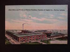 1914 Carlsruhe Ontario to Elmwood Ontario Canada Marion Indiana Postcard Cover
