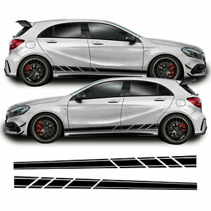 Lower Side Stripes For Mercedes A Class A45 AMG Vinyl Decal Sticker Graphics Kit