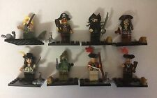 8pcs Pirates Of The Caribbean Mini Figures Minifigs Fit with Lego UK Set 2