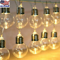 Outdoor String Lights for Patio Globe Party Weddings Light Bulb Battery Powered