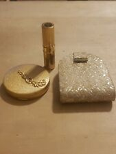 New ListingVintage DuBarry Cloudsilk Compact (Rose Beige) and Lipstick Case w/ carry case