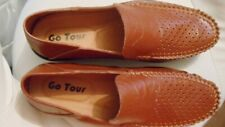 Mens Go Tour Brown Genuine Leather Casual Loafers/Driving Shoes  Size 9.5 ~NEW~