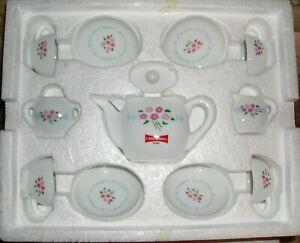 NIB 1997 Little Debbie Collectible Heirloom Tea Set Teaset Porcelain 12 Pieces