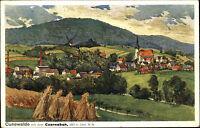 Cunewalde bei Bautzen Sachsen Color Postkarte 1937 Czorneboh Partie AK gelaufen