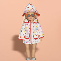 1 Set Handmade Raincoat + Hat Clothes Dress For 18 inch Dolls Kids Toy