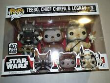 Funko pop vinyl figure 3 pack Star Wars ewoks Teebo Chief Chirpa Logray BNIB