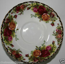 Vintage 1962 Royal Albert Old Country Roses SAUCER D14cm White Floral Gilt Plate