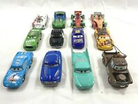 Disney Pixar Cars Lot of (12) Cars Lightning McQueen Hudson Hornet