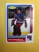 1986-87 O Pee Chee Rookie #9 John Vanbiesbrouck New York Rangers RC