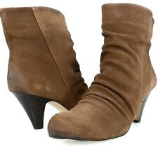 MESSECA NY GENY Ankle Pull On Vintage Ruched Boots Mid Heel Womens Shoes 8.5
