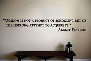 Albert Einstein Inspirational Teacher Classroom Quote Vinyl Sticker Decal (b)