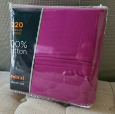 220-Thread-Count 100% Cotton Twin Xl sheet set  Purple
