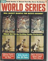 1964 World Series baseball magazine Mickey Mantle,New York Yankees, Willie Mays