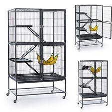 Ferret Cage Large Black Metal 3 Tier Small Animals Pet Rat Bird Rabbit Wire New