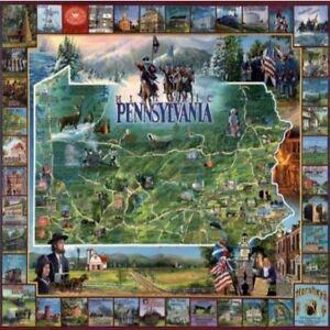 HISTORIC PENNSYLVANIA White Mountain 1000 Piece Jigsaw Puzzle 1993 SEALED NEW
