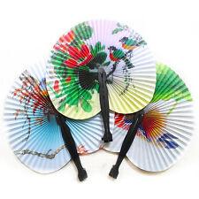 2Pcs Paper Hand Fan Folding Wedding Party Favor Decoration Colorful FREE .US