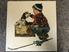 Completed Vintage Norman Rockwell Paint-By-Number Set #2-Boy With Dog