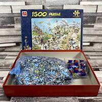"Jan Van Haasteren 1500 Piece Jigsaw Puzzle ""Tour de France""- Very Good Con"