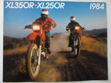 Honda motorcycle brochure Xl 250 R & 350 R Uncirculated high quality color 1984