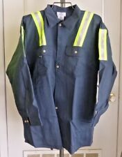 New! Steel Grip Navy/Hivis Flame Resistant Collard Shirt, 3X, 10.7Cal/Cm2