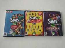 Lot 3 extensions les Sims 2 : animaux cie/nuits de folie/h&m fashion kit PC FR