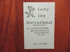 1982 ELIZABETHTOWN Womens Basketball Program(14 Sign/YVONNE KAUFFMAN/PEGGY LONGO