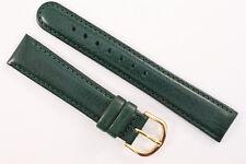 Uhrenarmband 18mm Kalbsleder gepolstert Grün Länge: M    Top Qualität