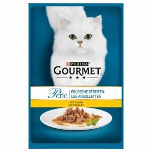 Gourmet Perle Purina Cat Wet Food Meat Fine Filets 2 x (24 x 85g) Total 48x85g
