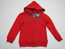 NWT Nautica Red Zip Up Hoodie Hooded Sweatshirt Girls Small S 4 $47.50